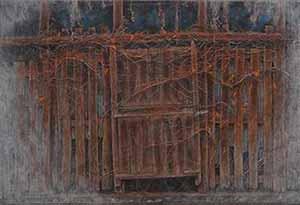 第67回滋賀県美術展覧会(平面の部)佳作「開かずの扉」