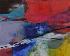 第67回滋賀県美術展覧会(平面の部)佳作「夜明け・宙」