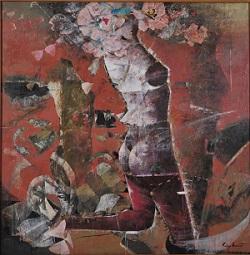第68回滋賀県美術展覧会(平面の部)特選「華の方舟」