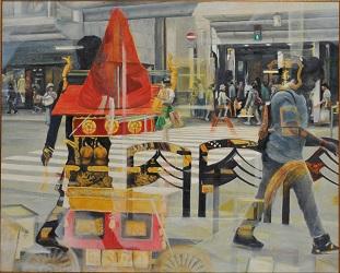 第68回滋賀県美術展覧会(平面の部)特選「京の街、祇園祭の頃」