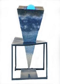 第68回滋賀県美術展覧会(立体の部)特選「落ちる大地66.6(歪んだ空間)」