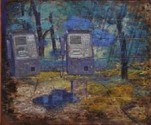 第68回滋賀県美術展覧会(平面の部)佳作「声を聞く」