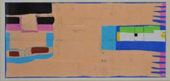 第68回滋賀県美術展覧会(平面の部)特選「泳ぐ人」