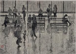 第68回滋賀県美術展覧会(平面の部)特選「夕影」