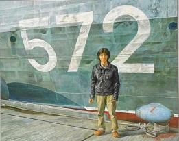 第69回滋賀県美術展覧会(平面の部)佳作「舫い」
