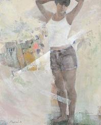 第69回滋賀県美術展覧会(平面の部)特選「風の中に」