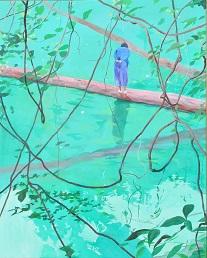 第69回滋賀県美術展覧会(平面の部)特選「blue forest」