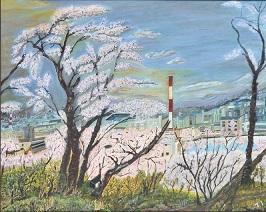 第69回滋賀県美術展覧会(平面の部)佳作「石山の昼下り」