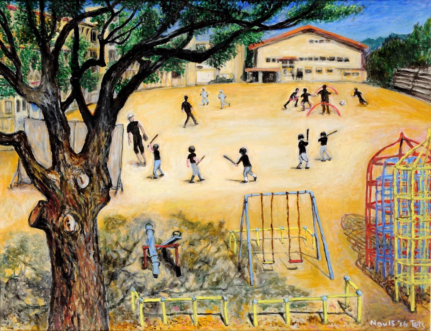 第70回滋賀県美術展覧会(平面の部)佳作「上級生の夏」