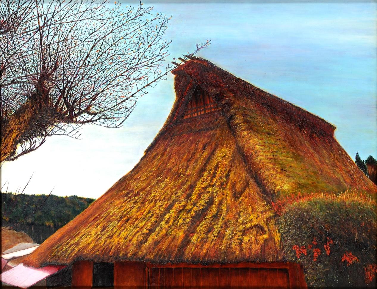 第69回滋賀県美術展覧会(平面の部)佳作「故郷」