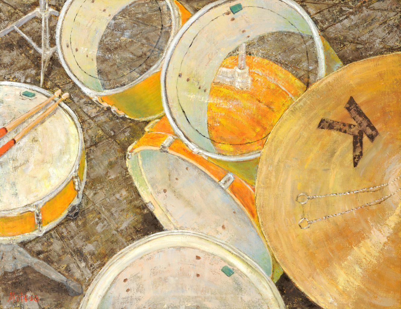 第70回滋賀県美術展覧会(平面の部)特選「Drums」