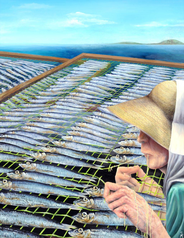 第70回滋賀県美術展覧会(平面の部)特選「営み」