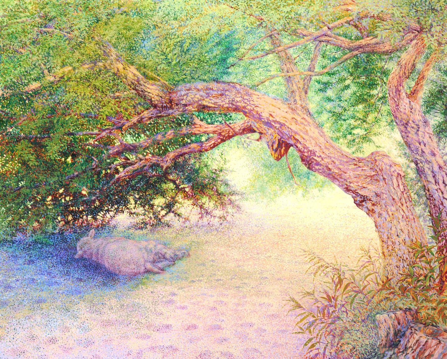第70回滋賀県美術展覧会(平面の部)特選「木陰」