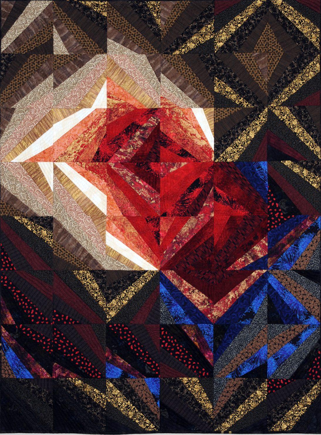 第70回滋賀県美術展覧会(工芸の部)特選「聖火・時を超えて PART-Ⅱ」