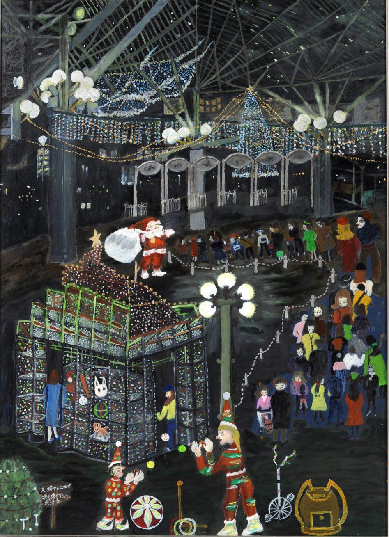 第70回滋賀県美術展覧会(平面の部)芸術文化祭賞「メリークリスマス」