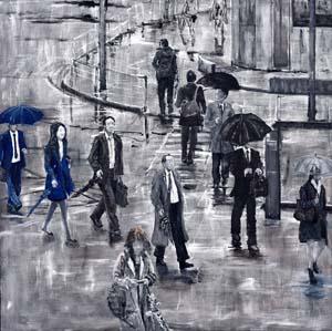 第71回滋賀県美術展覧会(平面の部)特選「春はこぬか雨-part1-」
