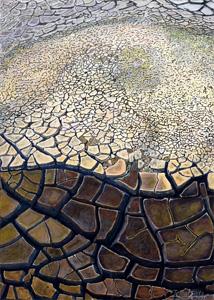 第71回滋賀県美術展覧会(平面の部)特選「雨をまつ」