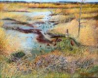 第71回滋賀県美術展覧会(平面の部)佳作「枯れゆく沼地」