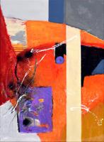 第71回滋賀県美術展覧会(平面の部)佳作「天空に聴く(2)」