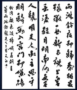 第71回滋賀県美術展覧会(書の部)特選「張●詩」