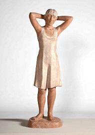 第72回滋賀県美術展覧会(立体の部)佳作「姿見の前で(Ⅰ)」