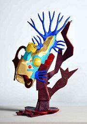 第72回滋賀県美術展覧会(立体の部)佳作「深界のポセイドン(海の王)」