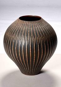 第72回滋賀県美術展覧会(工芸の部)佳作「縞文壺「鳰の湖」」