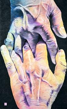 第73回滋賀県美術展覧会(平面の部)特選「つながり」