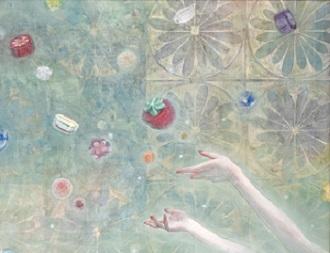 第73」回滋賀県美術展覧会(平面の部)特選「甘美な記憶」