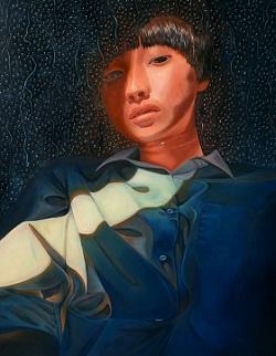第73回滋賀県美術展覧会(平面の部)特選「心の中で」