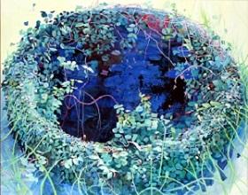 第73回滋賀県美術展覧会(平面の部)佳作「たまりのあと」